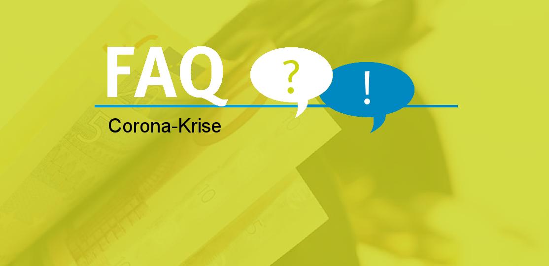 Schriftzug FAQ und Corona-Krise