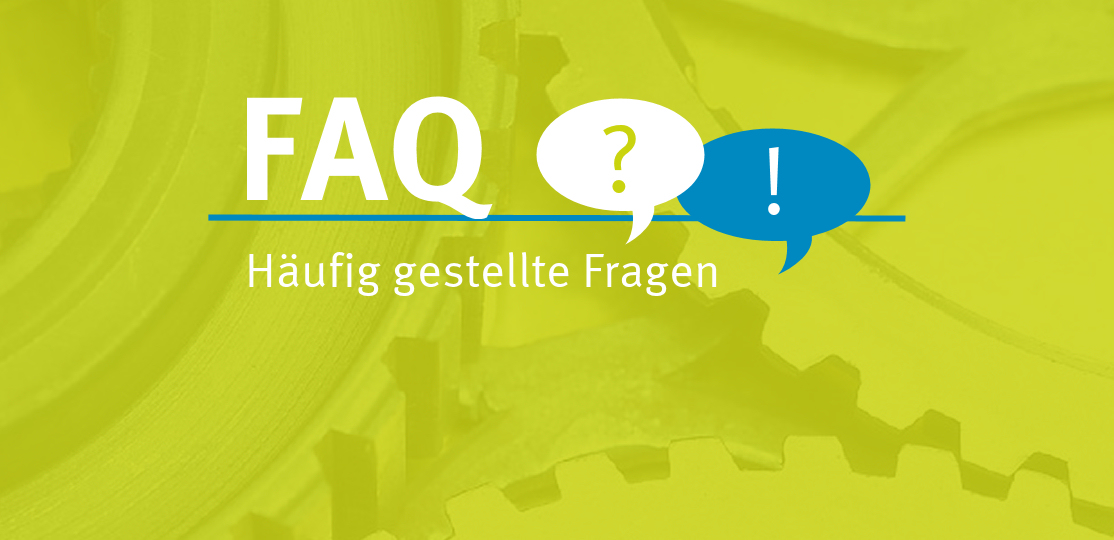 """Grafik mit grünem Hintergrund und der Aufschrift """"FAQ - Häufig gestellte Fragen"""""""